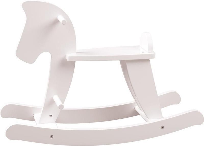 WOODY poškozený obal: Houpací kůň - bílý