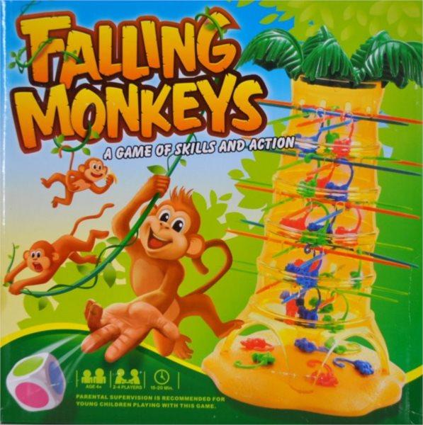 Stolní rodinná hra Padající opičky