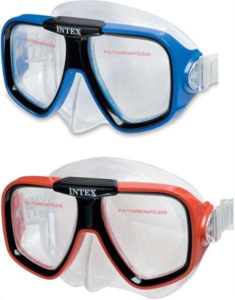 INTEX Potápěčské brýle - dvouzorníkové, modré, červené (mix barev)
