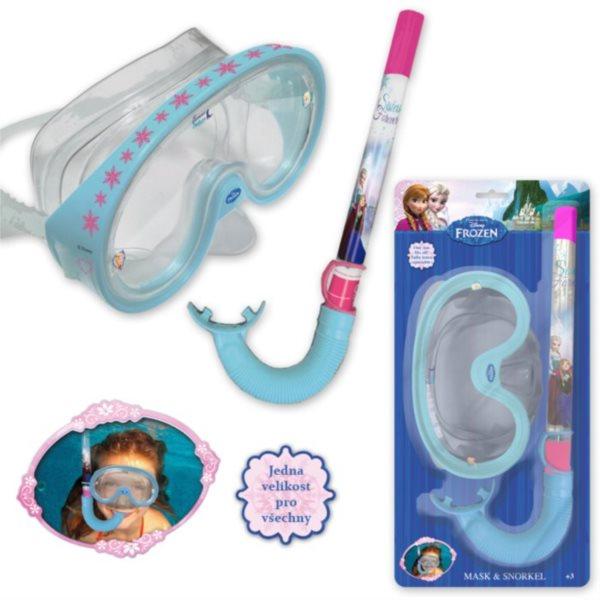 Potápěčské brýle + šnorchl Ledové království