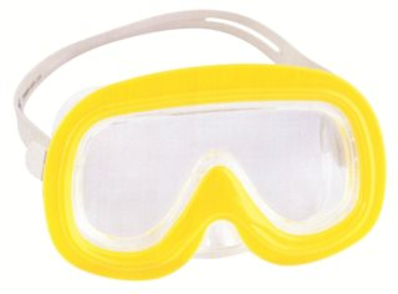 Potápěčské brýle žluté, 3-6 let