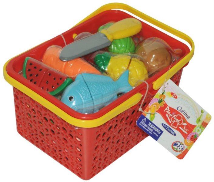Potraviny v nákupním košíku 28 ks