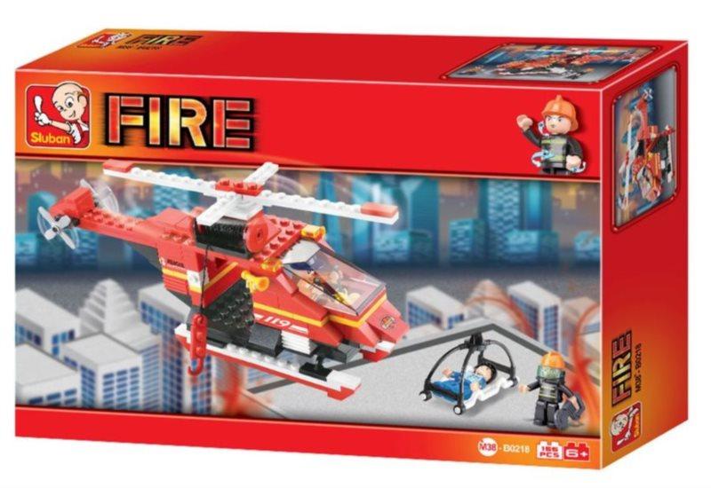 Stavebnice SLUBAN Požární helikoptéra