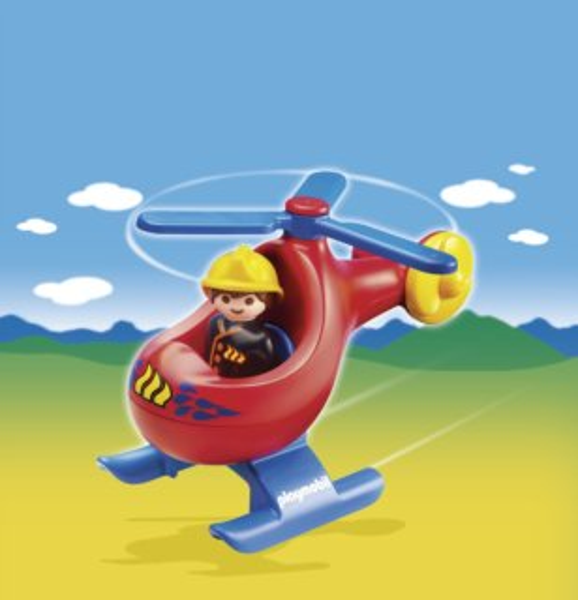 Playmobil 6789 Požární helikoptéra (1.2.3)
