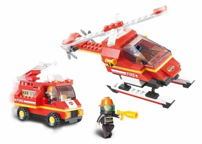 poškozený obal: Hasičský vrtulník a vůz