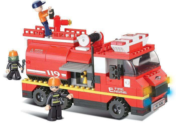 Stavebnice SLUBAN Požární vůz s cisternou