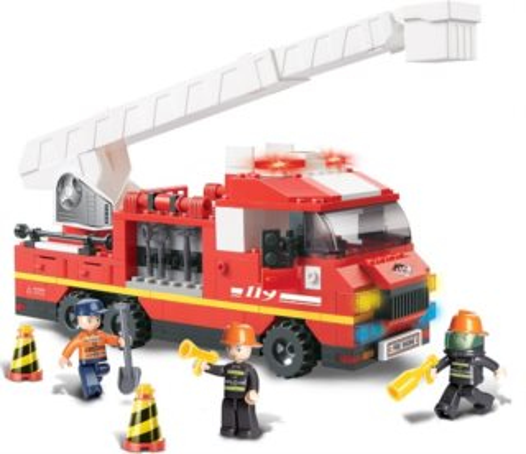 Stavebnice SLUBAN Požární vůz s žebříkem