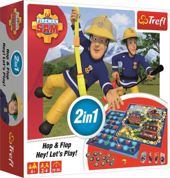 TREFL Hry Požárník Sam 2v1: Hop & Flop a Hey! Let's Play!