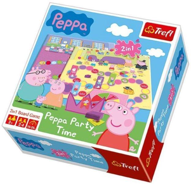 Desková hra Prasátko Peppa Party Time (2v1), TREFL