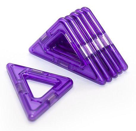 Magnetická stavebnice MAGFORMERS Pravoúhlý trojúhelníček 6 kusů ve fólii