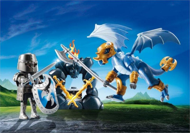 Playmobil 5657 Přenosný box: Dračí rytíř s drakem