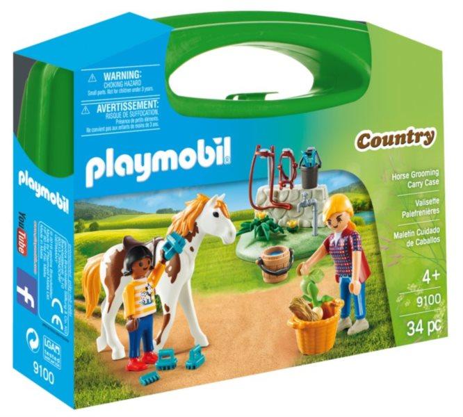 PLAYMOBIL Přenosný box Péče o koně 9100