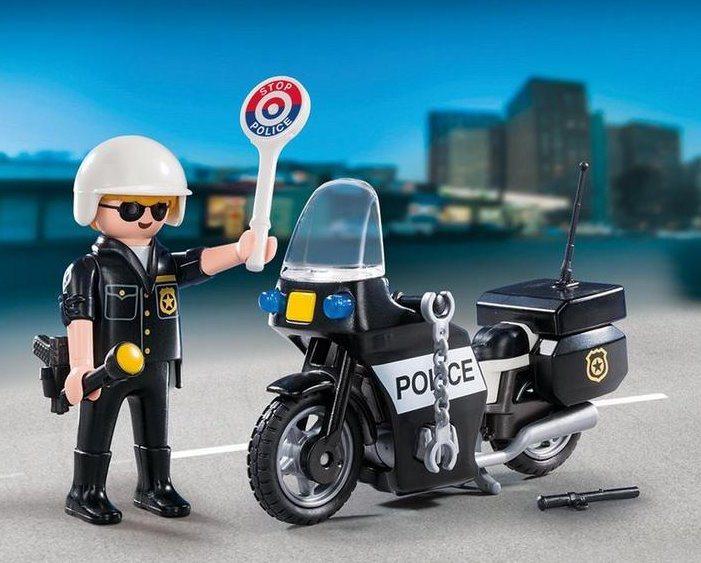 PLAYMOBIL Přenosný box: Policista s motorkou 5648