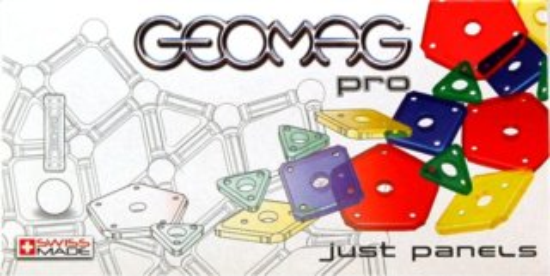 Magnetická stavebnice GEOMAG - Pro Just Panels 60 dílků - Barevné výplně