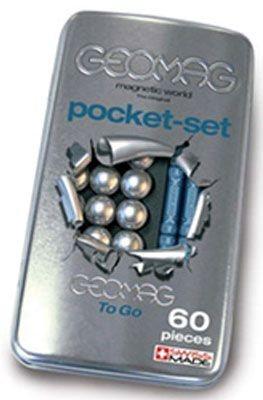 Magnetická stavebnice GEOMAG - Pro Metal pocket set 60 dílků v plechové krabičce