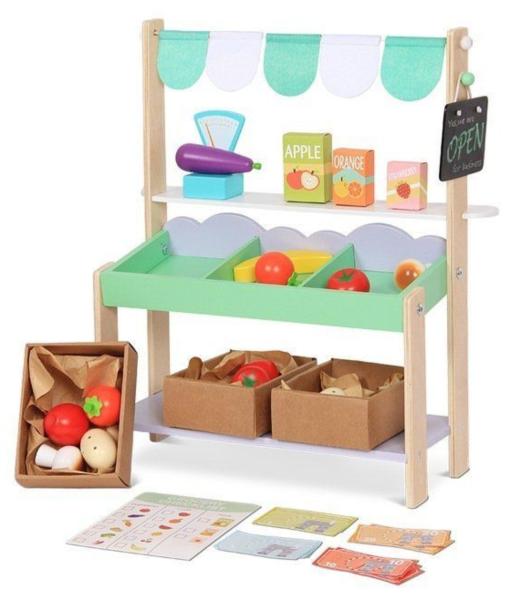 ECOTOYS Prodejní stánek s ovocem a zeleninou