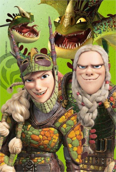 RAVENSBURGER Puzzle Jak vycvičit draka 3: Rafana a Ťafan 54 dílků