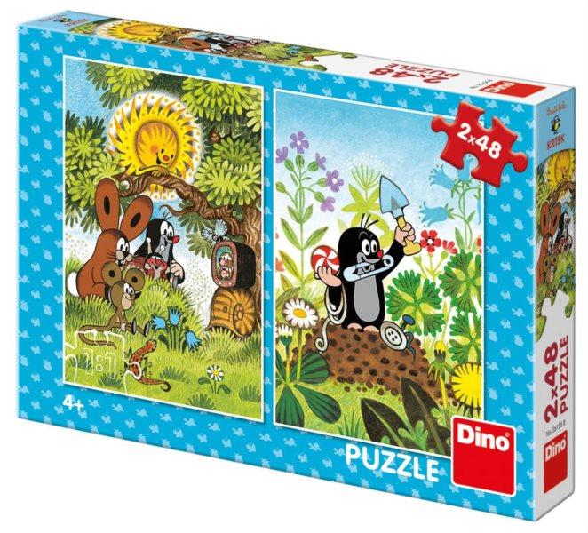 DINO Puzzle Krteček a přátelé 2x48 dílků