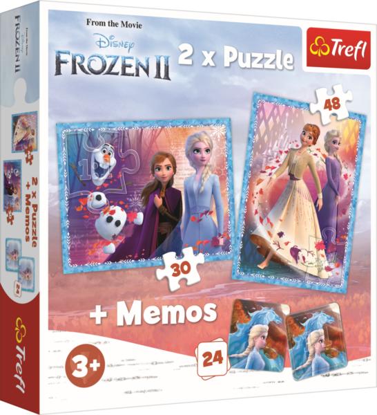 TREFL Puzzle Ledové království 2, 30+48 dílků + pexeso