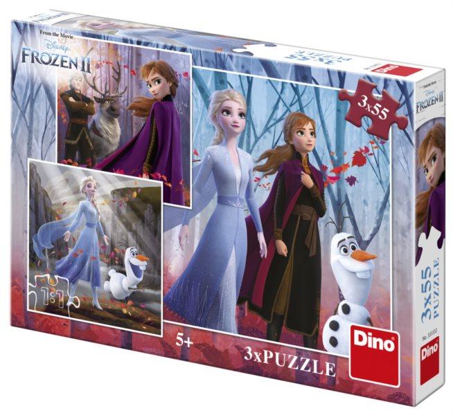 DINO Puzzle Ledové království 2, 3x55 dílků