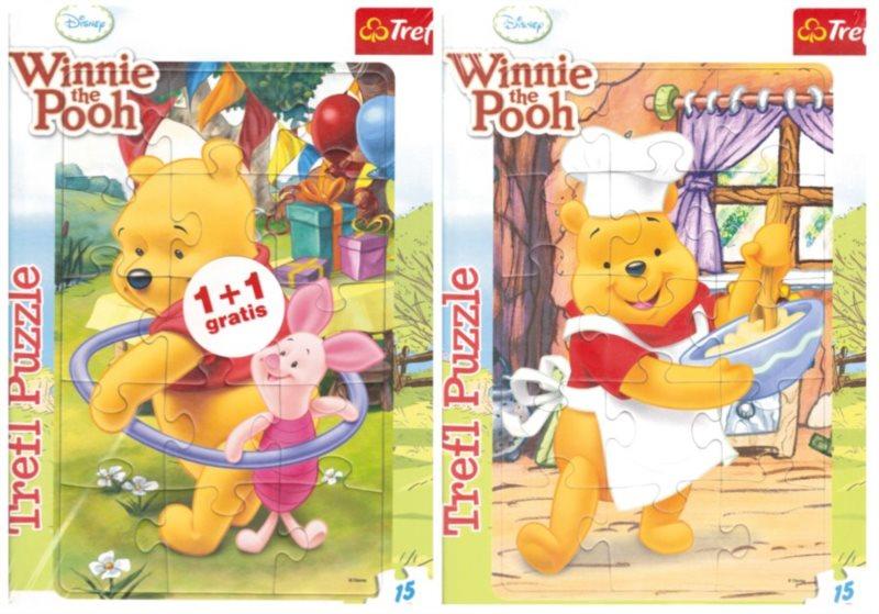 TREFL Puzzle Medvídek Pú 2x15 dílků