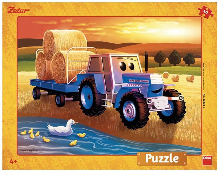 DINO Puzzle Traktor Zetor 40 dílků