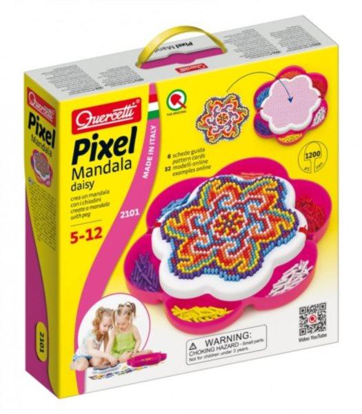 Hra s kolíčky QUERCETTI Pixel Mandala daisy