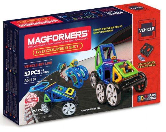 Magnetická stavebnice MAGFORMERS R,C Auta 52 dílků
