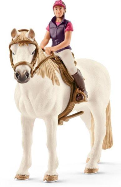 Rekreační jezdkyně s koněm