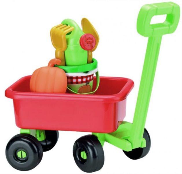 ÉCOIFFIER Retro vozík s konvičkou a příslušenstvím