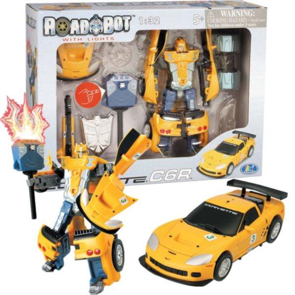 MAC TOYS: Robot se svítícím mečem: Corvette C6R