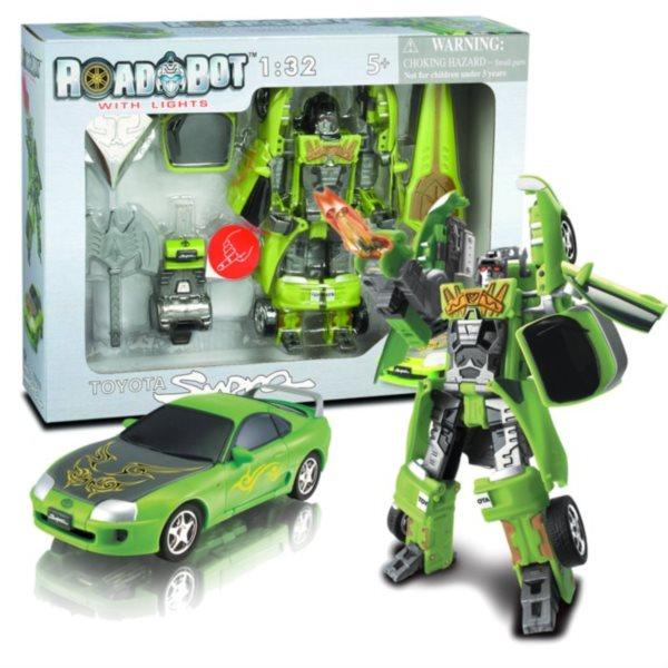 Happy Well Robot se svítícím mečem: Toyota Supra