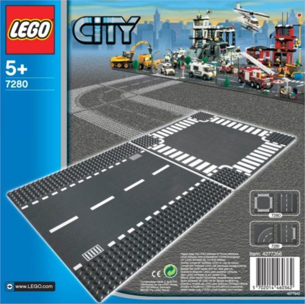 Stavebnice LEGO® City Rovná silnice a křižovatka 7280
