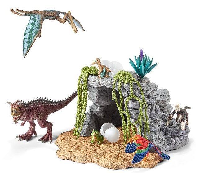 SCHLEICH 42261 Sada dinosaurů s jeskyní
