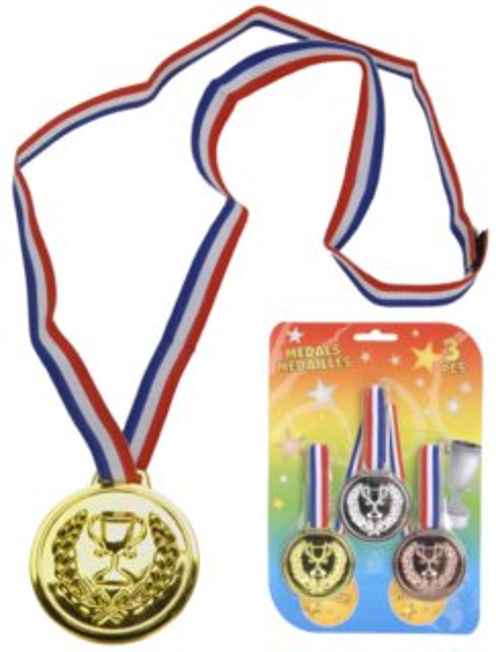 Sada medailí - plastová