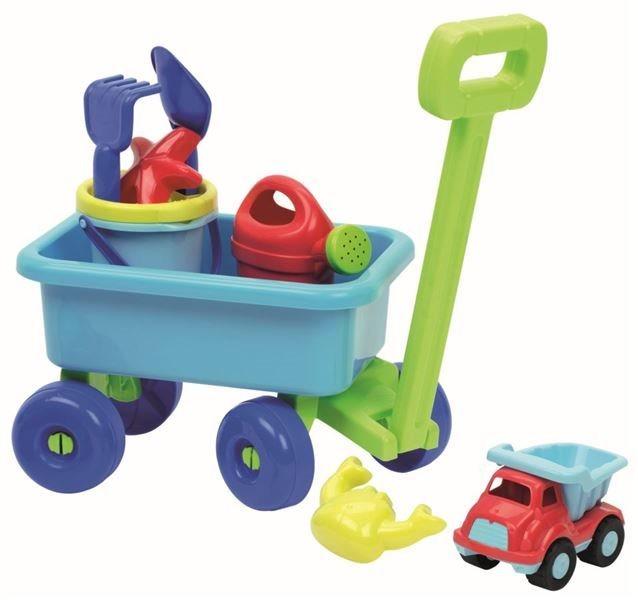 ÉCOIFFIER Sada na písek s vozíkem