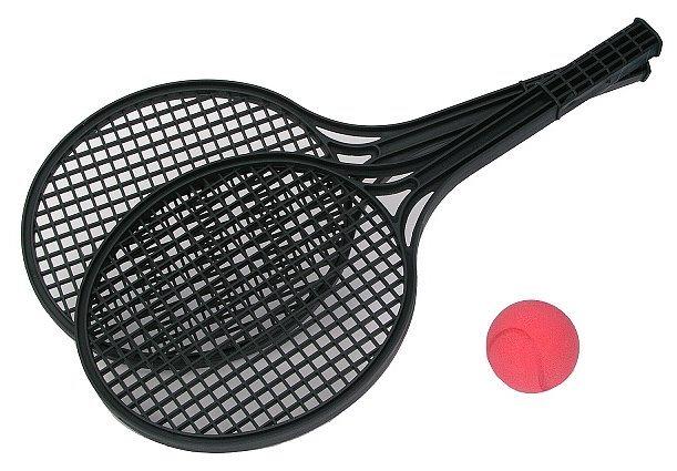 Sada na soft tenis s míčkem - černá (mix)
