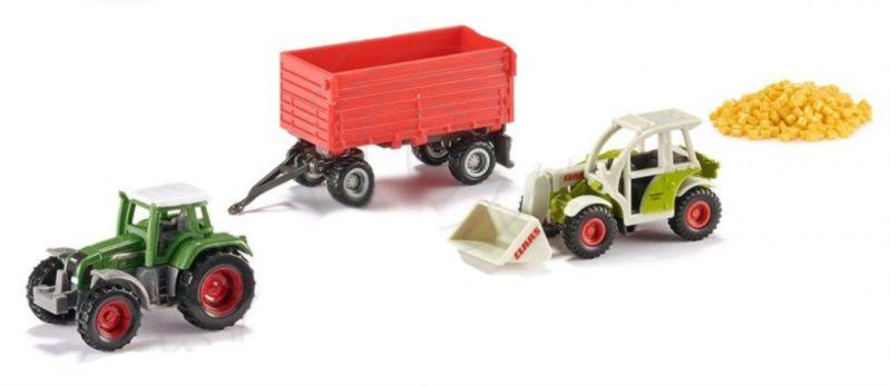 Sada: Traktory s vlečkou a nákladem