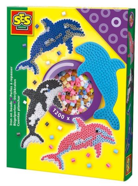 SES Sada zažehlovacích korálků - Delfíni