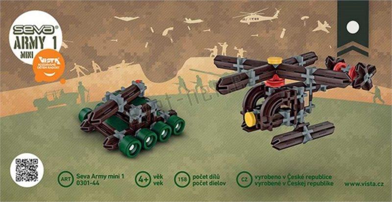 Polytechnická stavebnice SEVA Army MINI 1 - 158 dílků