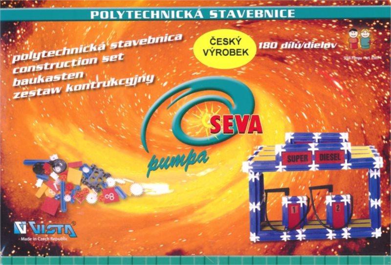 Polytechnická stavebnice SEVA Pumpa - 180 dílků