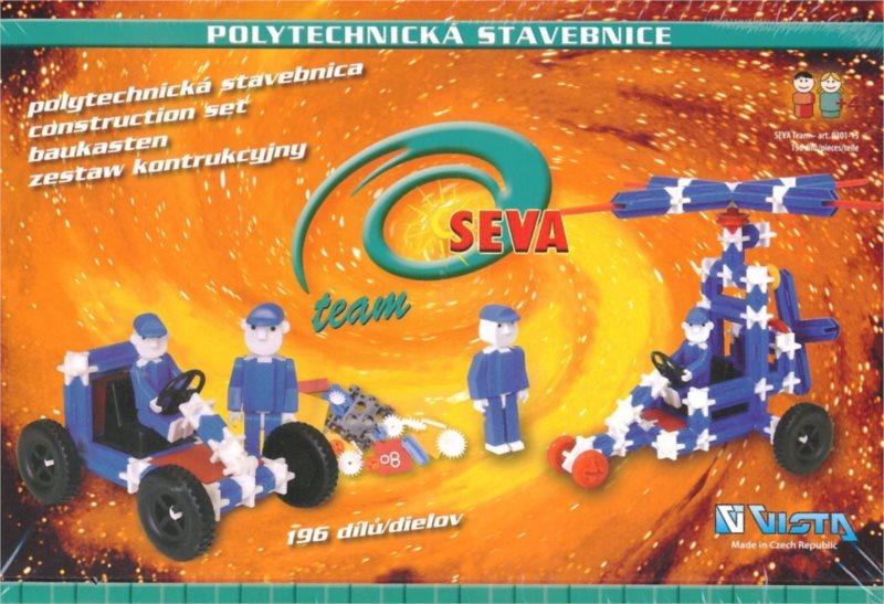 Polytechnická stavebnice SEVA Team - 196 dílků