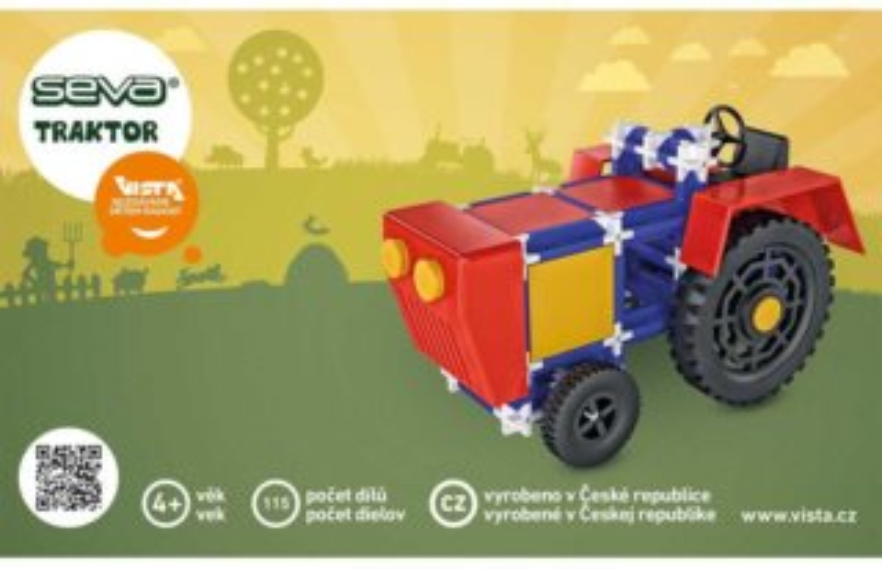 Polytechnická stavebnice SEVA Traktor - 115 dílků