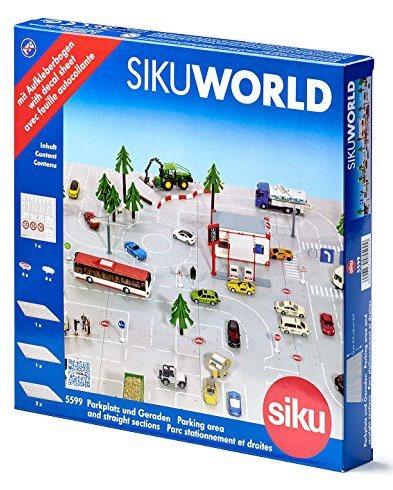 SIKU World 5599 Silnice s autobusovou zastávkou a parkovištěm