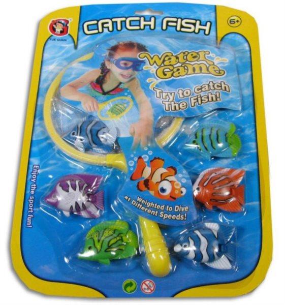 MADE Síťka s barevnými rybičkami 77645