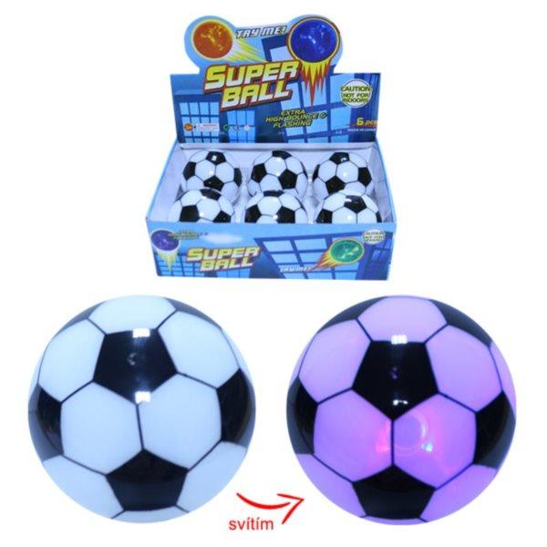 Skákací míček LED Fotbalový míč 8,5cm (mix)
