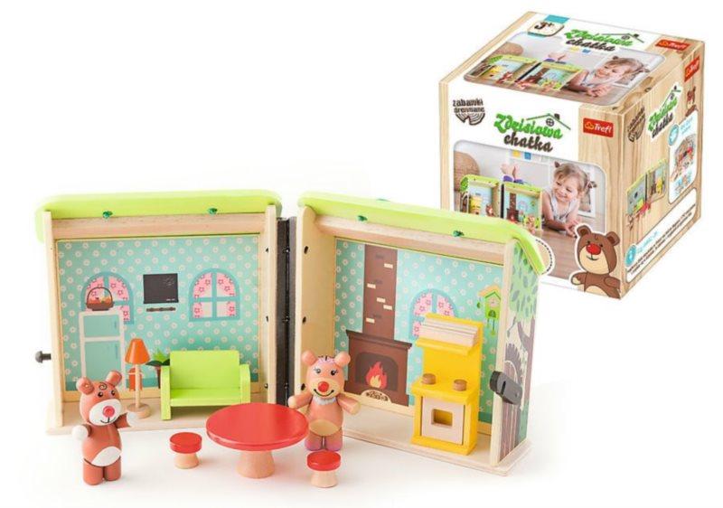 TREFL Skládací dřevěný domeček