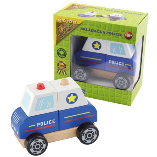 STUDO WOOD Skládačka Policie
