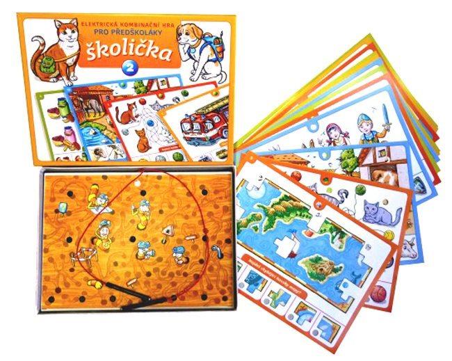 Elektronická kombinační hra pro děti - Školička 2