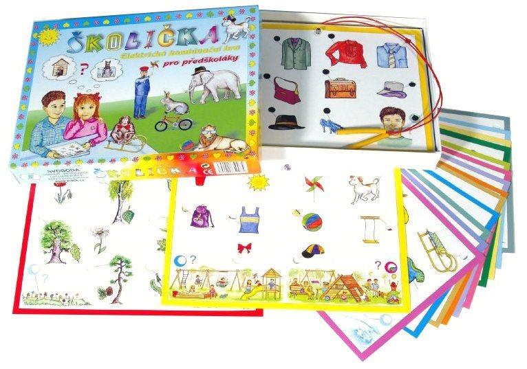 Elektronická kombinační hra pro děti - Školička